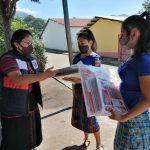 Jóvenes de comunidades de Sololá sensibilizan a más jóvenes contra la violencia de género