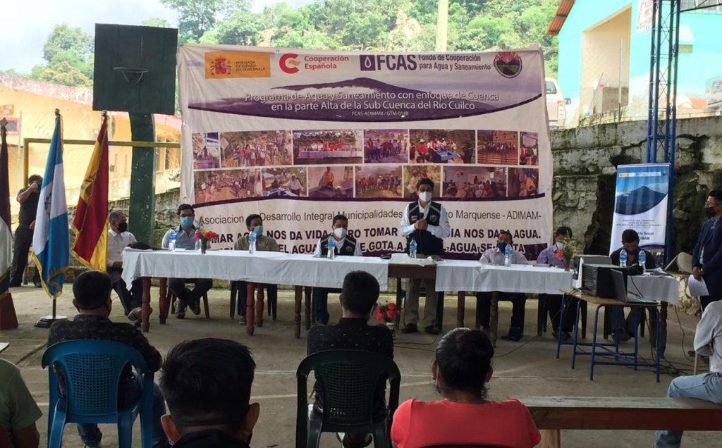 FCAS-Adimam: Comienzan obras del sistema de agua potable en la Aldea María Cecilia, municipio de Sibinal en San Marcos