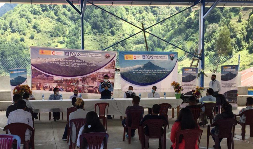 Habitantes de aldea en Sibinal consumirán agua segura en su comunidad
