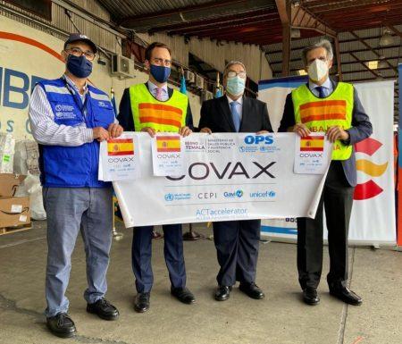 España entrega a Guatemala segunda donación de 307.200 vacunas AstraZeneca